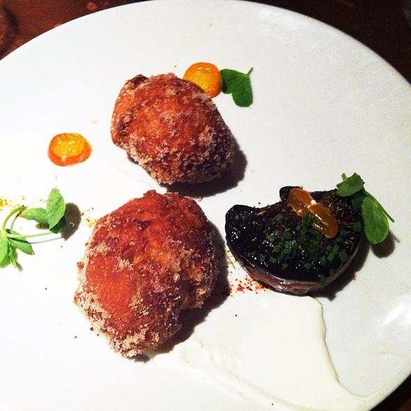 Foie Gras & Doughnuts, Kumquats, Bitter Orange, Chevre  @ Garden At the Cellar