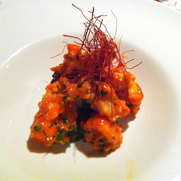 Lobster Tempura, Spicy Yuzu Aïoli, Cucumbers  @ Lobster Tempura, Spicy Yuzu Aïoli, Cucumbers