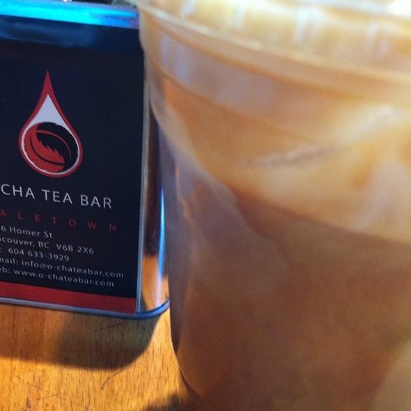 Triple Shoot Iced Latte  @ O-Cha Bar Tea Yaletown