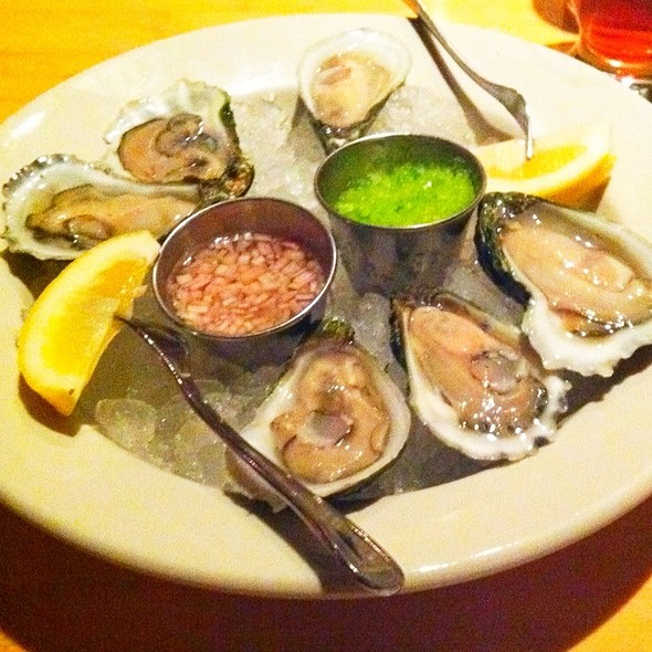 Half-Dozen Oysters With Fresh Horseradish And Champagne Mignonette  @ Rendezvous In Central Square