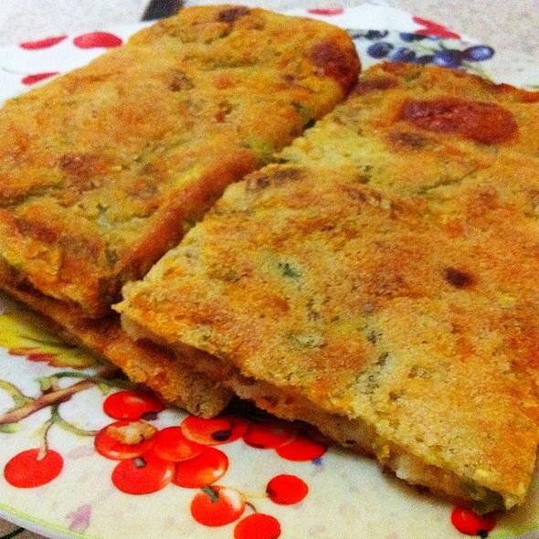 Fiori Di Zucchine In Pastella A Mo' Di Pizza Al Forno