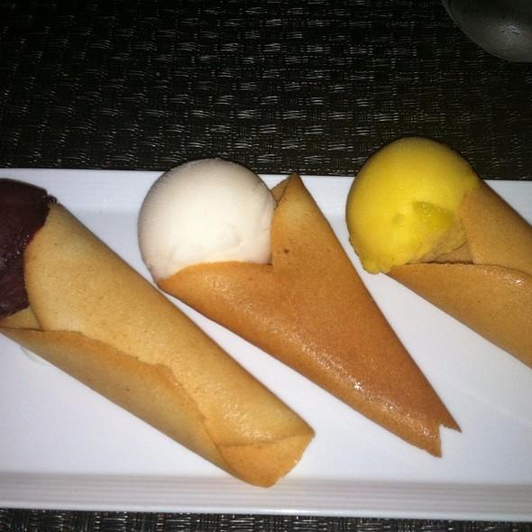 Trio Sorbet Selection @ Triniti Restaurant + Bar