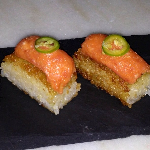 Crispy Rice with Spicy Tuna @ Makoto