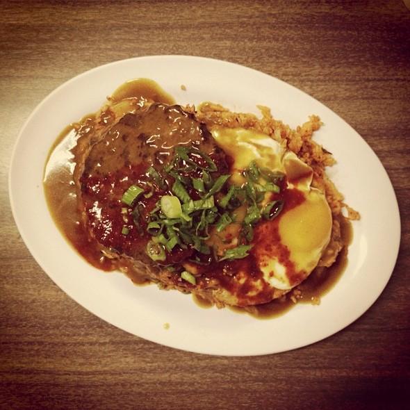 Japanese Curry Kimchee Fried Rice Loco Moco @ HRD Coffee Shop