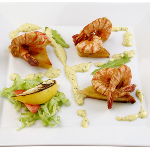 Apple cinnamon prawn and olive oil infusion @ Gourmet Recipe