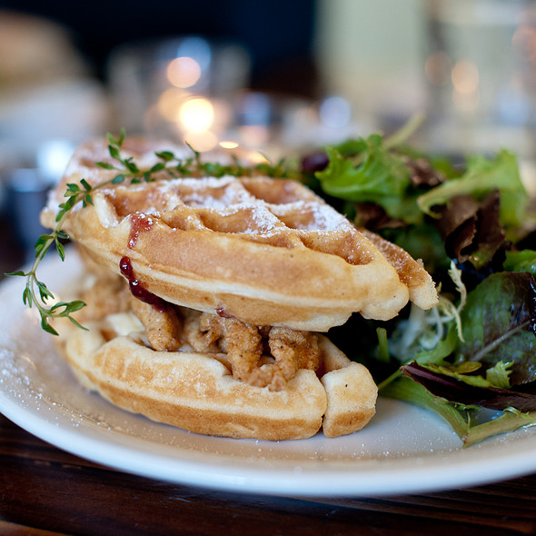 Fried Chicken And Waffle Monte Cristo  @ Straw