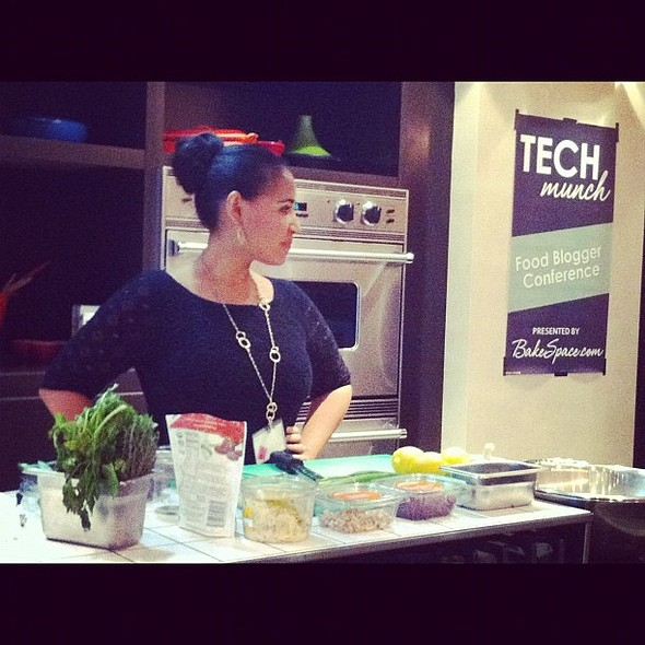 "the talented alejandra ramos (@nandita) doing #techmunch food demo. ""cook once, eat all week"" #cooking #eating @ TECHMunch NYC 2012"