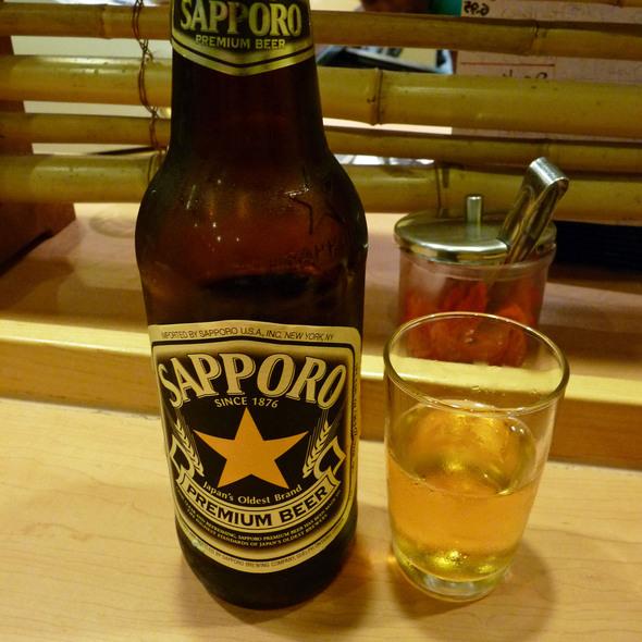 Sapporo Beer @ Santa Ramen