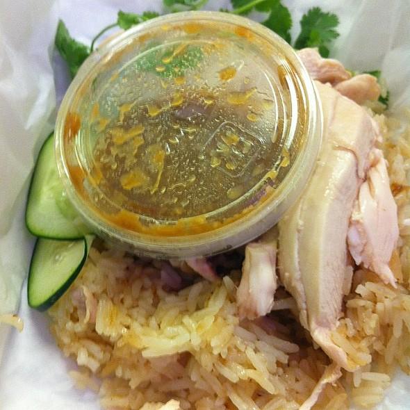 chicken and rice @ Nong's Khao Man Gai