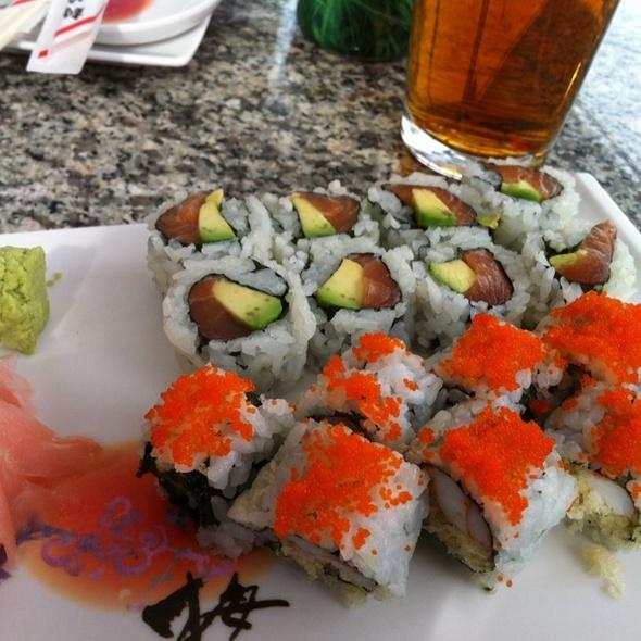 crunchy shrimp + alaska roll @ PM