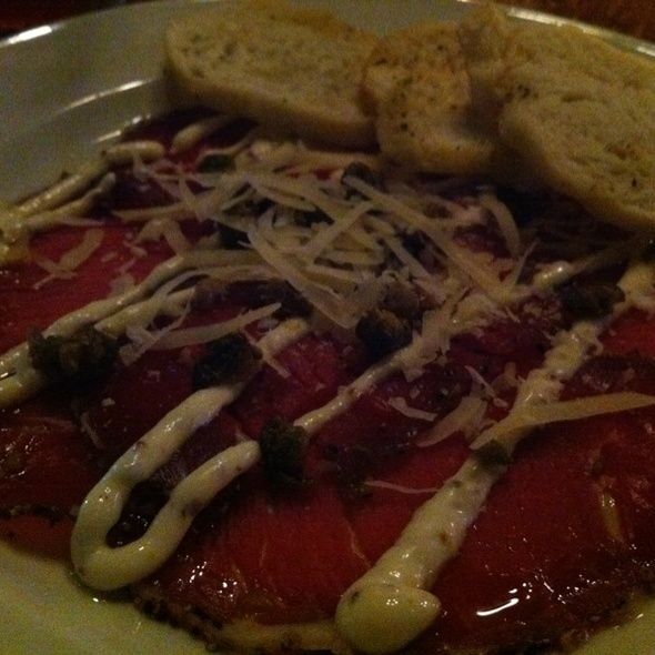 Beef Carpacchio - Hamilton Street Grill, Vancouver, BC