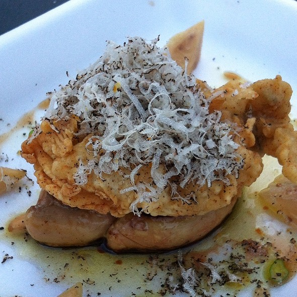 Seared Fois Gras W/Fried Oyster @ Tapa Tapa Food Truck