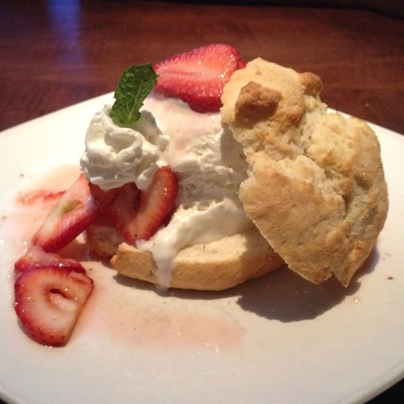 strawberry shortcake @ Firebirds Wood Fired Grill