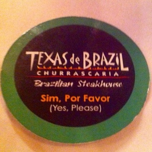 Place Mat - Texas de Brazil - Trinidad, Port of Spain, Trinidad