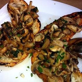 Mushroom Bruschetta - Aioli Bodega Espanola, Sacramento, CA