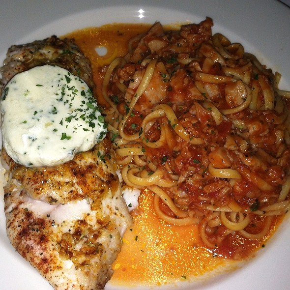 Grilled Swordfish With Herb Butter And Linguine With Clams - Il Porto, Alexandria, VA
