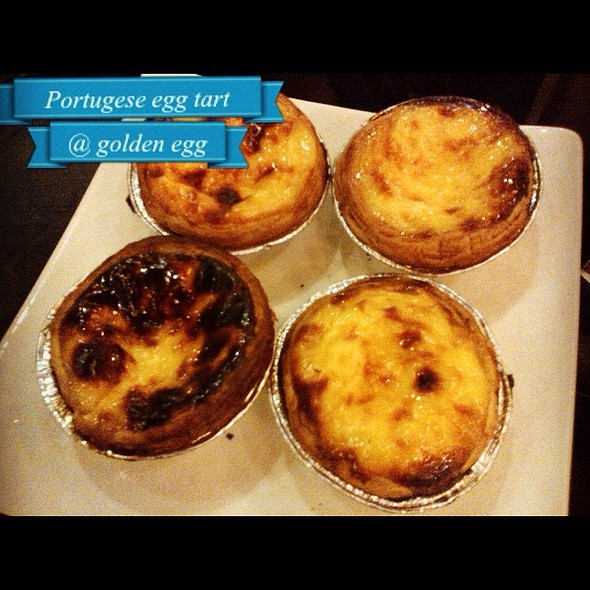 Portugese Egg Tarts @ Golden Egg Bakery