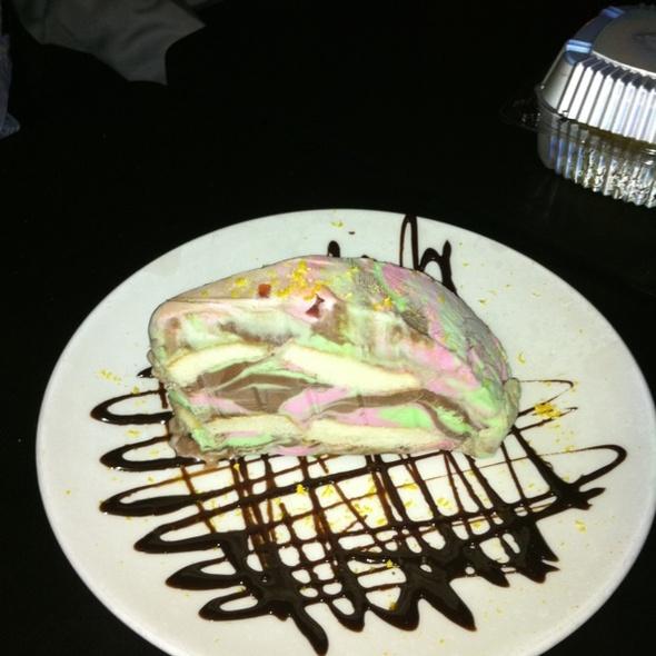 Tri-flavour Ice Cream Cake With Liquor Cherries - Fraticelli's Italian Grill - Richmond Hill, Richmond Hill, ON