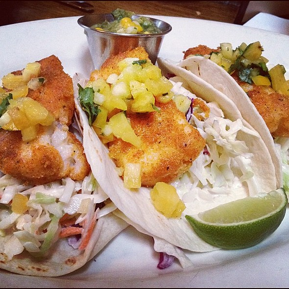 fish tacos @ Phantom Canyon Brewing Co