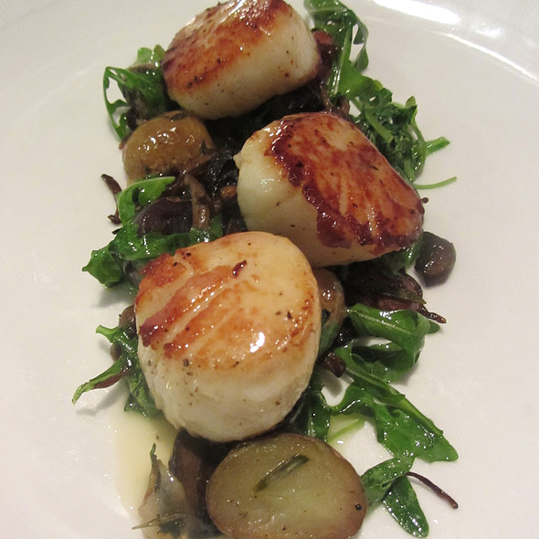 Pan Roasted Scallops @ Campanile Restaurant