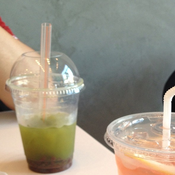 Azuki Green Tea Matcha Latte @ Dolce Delights