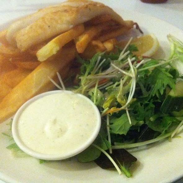 Perch Grilled Fillet With Hand Cut Chips Tartare Sauce @ Kirribilli Club