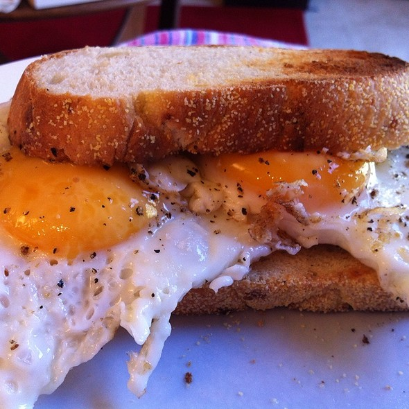 Fried Eggs On Parmesan Pepper Toast @ Stuff