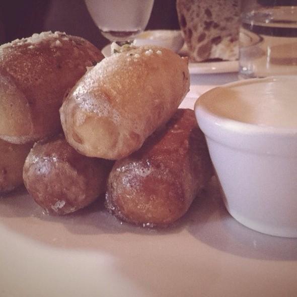 Soft Pretzel with IPA Cheddar Sauce @ Absinthe Brasserie & Bar