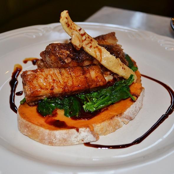Twice Cooked Pork Belly Open Sandwich @ Chez Dre. Patisserie