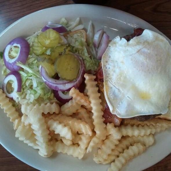 Massive Sunrise Burger @ The Historic Steer-In
