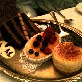 Desserts: Chocolate Hazelnut Cake, Creme Brulee, Cheesecake