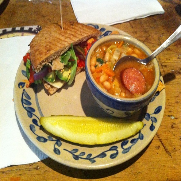 Santa Fe Sandwich And Cabbage, White Bean And Chorizo Soup  @ Selin's Grove Brewing Co