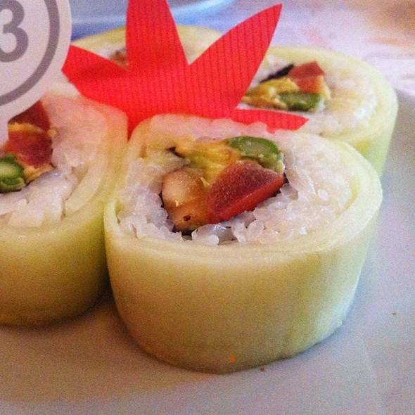 Cucumber, Banana, Tomato, Asparagus And Avocado Sushi @ Taka Taka
