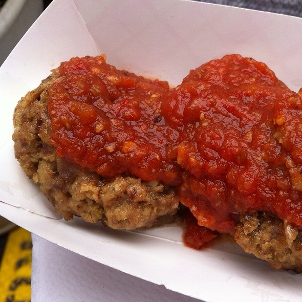 Beef Meatballs With Tomato Sauce @ Mighty Balls @ Madison square Eats