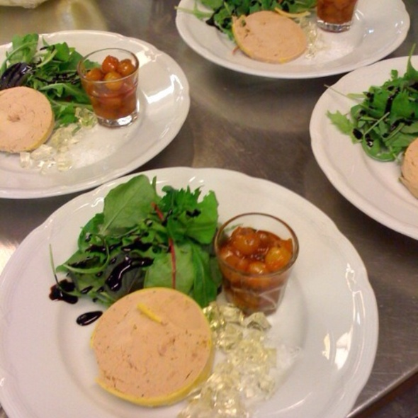 Foie gras with riesling gelé @ Bistro Tête à Tête Bromma/Stockholm