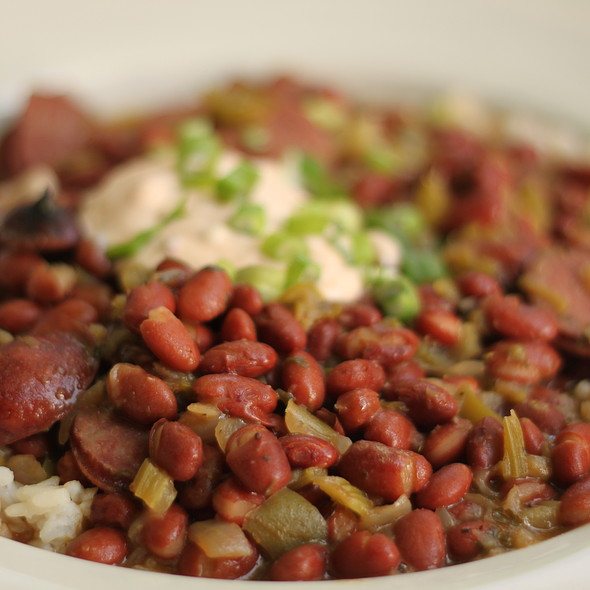 Andouille Sausage with Red Beans and Rice @ Stella