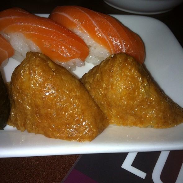 Tofu Nigiri And Salmon Nigiri