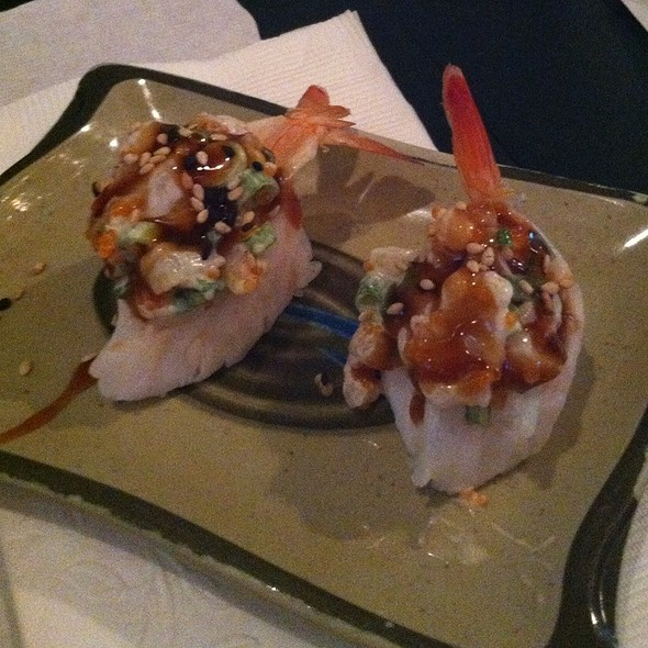 Upside Down Shrimp @ Sushi Club