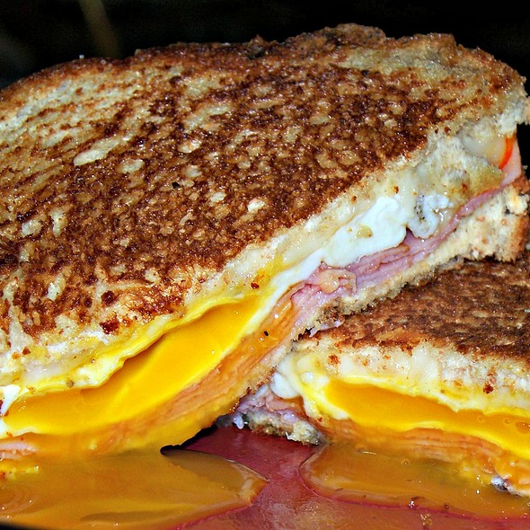 Grilled Ham, Cheese, & Fried Egg Sandwich @ Homemade By Me