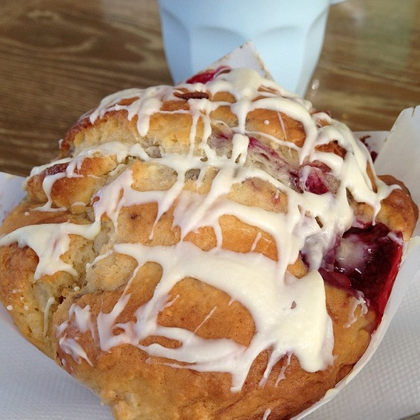 Berry And White Chocolate Muffin @ Bronze Kiosk