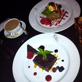 Valrhona Chocolate Brownie - PAON Restaurant & Wine Bar, Carlsbad, CA