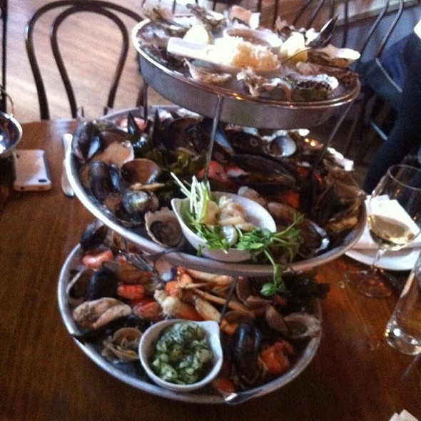 Large Seafood Tower - Cork and Fin, Vancouver, BC