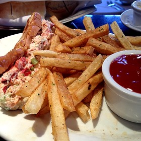 Lobster Roll and French Fries