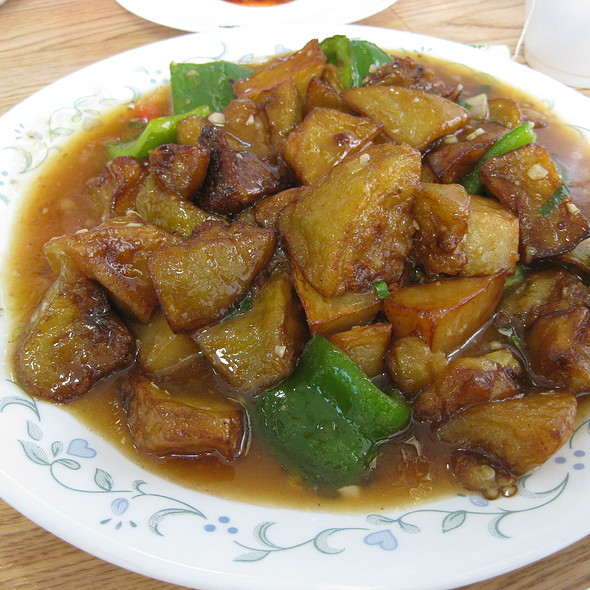 Sautéed Potato, Green Pepper & Eggplant @ Peking Quick One Chinese Cuisine