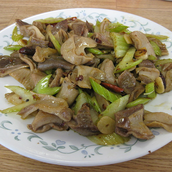 Stir Fried Vegetables & Pig Stomach @ Peking Quick One Chinese Cuisine