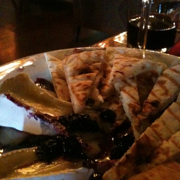 warm brie and blueberries - In The Red Wine Bar & Cafe, Seattle, WA