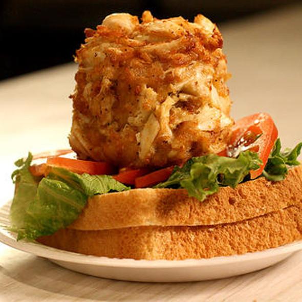 Crab Cake Sandwich @ Faidley's Seafood
