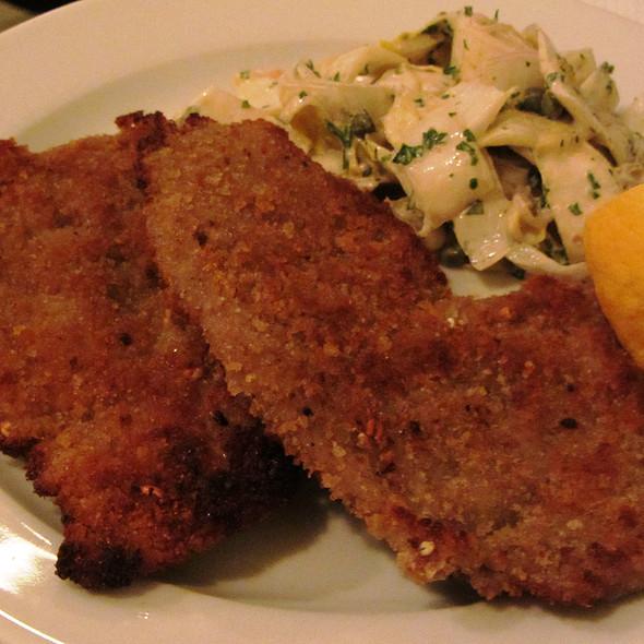 crumbled veal, anchovy, fennel slaw @ St John Bar & Restaurant