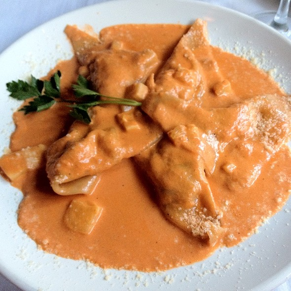 Cappellacci All'aragosta: Handmade Pasta Stuffed With Lobster And Fresh Seafood Served In A Creamy Pink Sauce - Sapori Trattoria, Chicago, IL