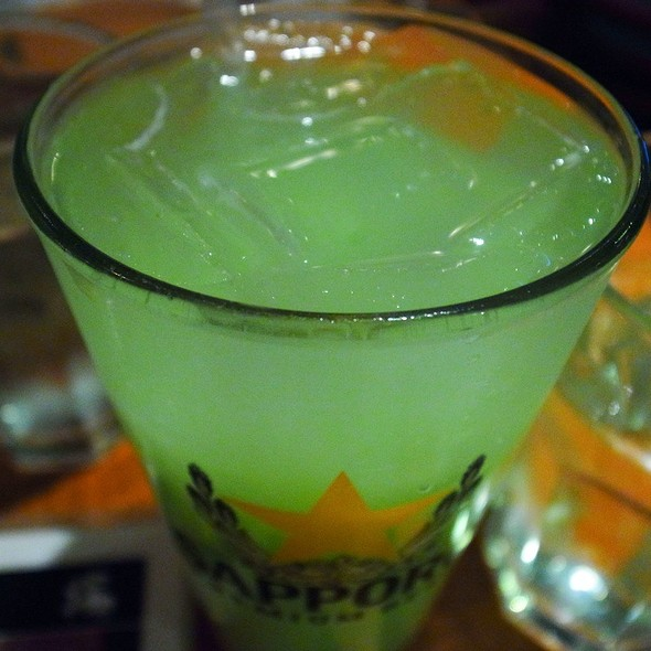 Green Apple Sour With Calpico @ Sake Bar Hagi